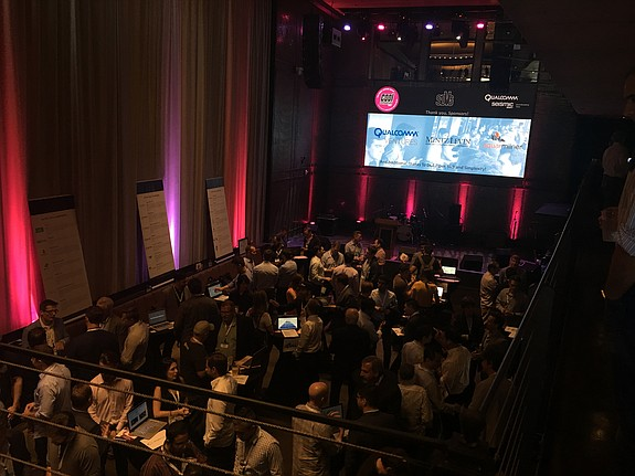 """SeismicSD took place in conjunction with San Diego Venture Group's """"Cool Companies"""" startup showcase. The event attracted 300 attendees. Photo courtesy of Qualcomm Ventures."""