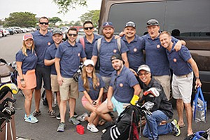 A group of golfers at the 5th Annual Drives for Rides golf tournament to benefit the Emilio Nares Foundation. Photo courtesy of gap intelligence