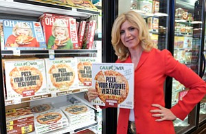 Healthy: Caulipower's Gail Becker with product at Whole Foods in Tarzana.