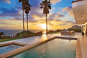 The pool and spa area of a home at 5490 Calumet Ave. in the Bird Rock area of La Jolla. Photo courtesy of Pacific Sotheby's International Realty