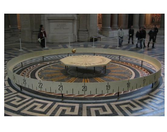 A Foucault Pendulum in Paris; source: Wikipedia