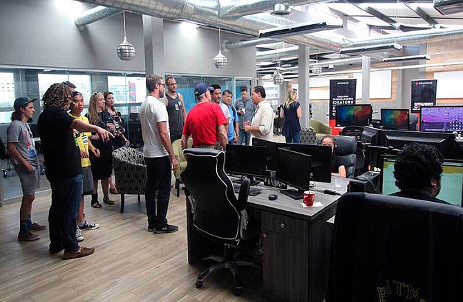 Attendees of the 2016 Tijuana Startup Crawl gather at Mind Hub. Photo courtesy of David Peguero.