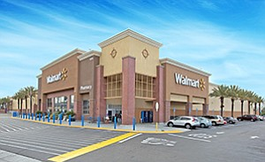 Wal-Mart Stores Inc. recently opened this new grocery Supercenter in Chula Vista, and also completed extensive renovations of two other stores in Vista and San Diego. Photo courtesy of CoStar Group