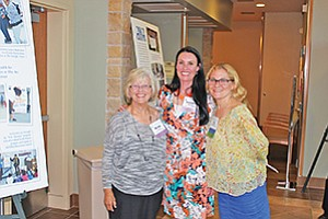 Becky Thaller, left, and Jennifer Navarra of The Arc of San Diego with Chula Vista Charitable Foundation Grants Chair Lisa Moctezuma, right, celebrate a record funding for three local nonprofits. Photo courtesy of the Chula Vista Charitable Foundation