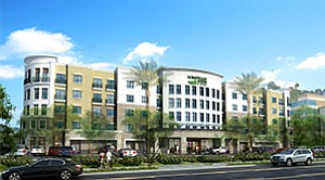 A newly built, 245-room Homewood Suites by Hilton recently opened in Mission Valley. Rendering courtesy of T2 Hospitality