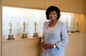 Diversity Debate: Cheryl Boone Isaacs at the academy's office in Beverly Hills.