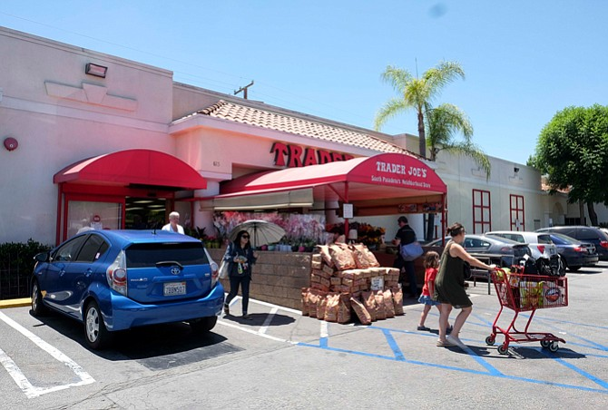 Shelf Life: Customers at Trader Joe's in South Pasadena.