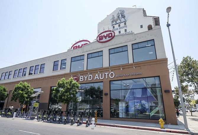 Downtown-based BYD Motors has nabbed a $66 million contract with the Los Angeles Metropolitan Transportation Authority to build 60 new electric buses for the agency's bus fleet. Photo by Ringo H.W. Chiu/LABJ