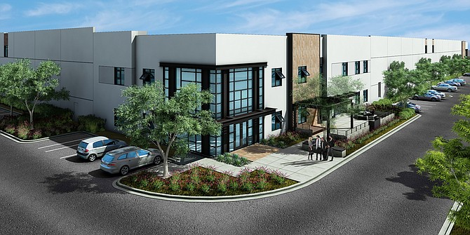 New industrial building underway at Pacific Coast Business Park in Oceanside – Rendering courtesy of McDonald Property Group