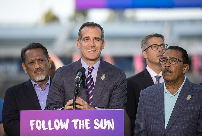 Mayor Eric Garcetti announced on Monday that the 2028 Summer Olympic Games will be held in Los Angeles.