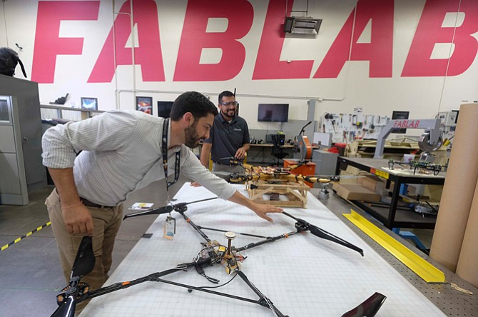 High on Ideas: Employees at Northrop's FabLab in Redondo Beach.