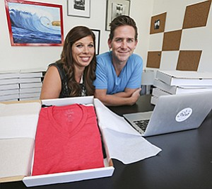 To be profitable early on, do it yourself, advises Melissa Parvis, who with her husband Matthew founded Fresh Clean Tees.