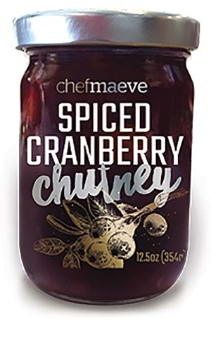 One of the retail products sold under the Chef Maeve name is a spiced cranberry chutney. Photo courtesy Sugar & Spice Bakery