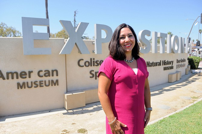 Fielding Attractions: Exposition Park General Manager Ana Lasso.