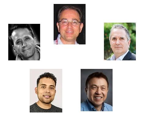 Accelerators: (clockwise from top) Banifatemi, Carpou, Chan, Perez, Van Cleve