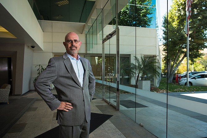Money Man: Stephen Pollack  at Anchor Loans offices in Calabasas.