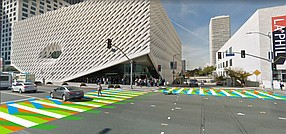 Rendering of Carlos Cruz-Diez, Couleur Additive, 2017 for The Broad in association with pacific Standard time: LA/LA. Courtesy of the Cruz-Diez Art Foundation and the artist.