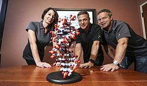 Executives Stephanie George, Jim Linton and Paul Predki are leading Dodo OmniData Inc.'s effort to develop a commercial solution for storing data in strands of DNA.
