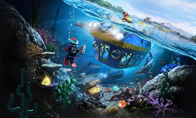 Lego City Deep Sea Adventure -- Rendering courtesy of Legoland California Resort