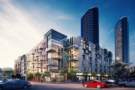 Construction begins on 60m downtown apartment project san diego business journal - Apartment buildings san diego ...