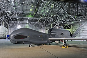 Aircraft from Northrop Grumman Corp.'s Global Hawk family may eventually carry high-power lasers for missile defense. Photo courtesy of Northrop Grumman Corp.