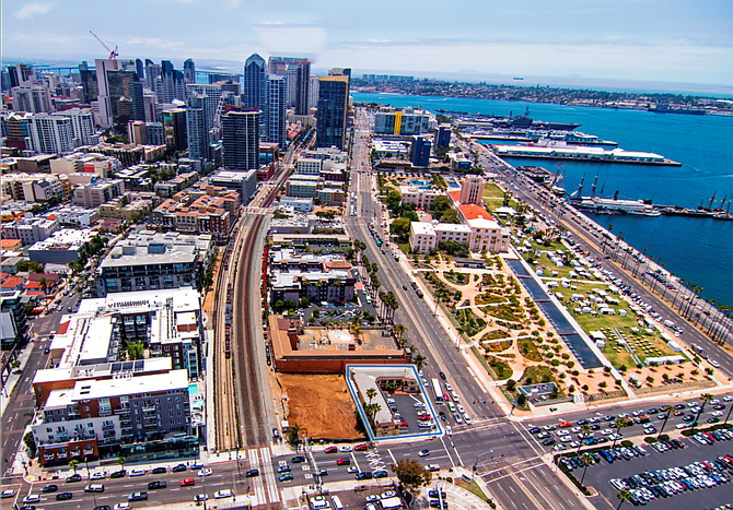 A 13,207-square-foot land parcel, at 929 W. Grape St. -- Photo courtesy of Pacific Coast Commercial