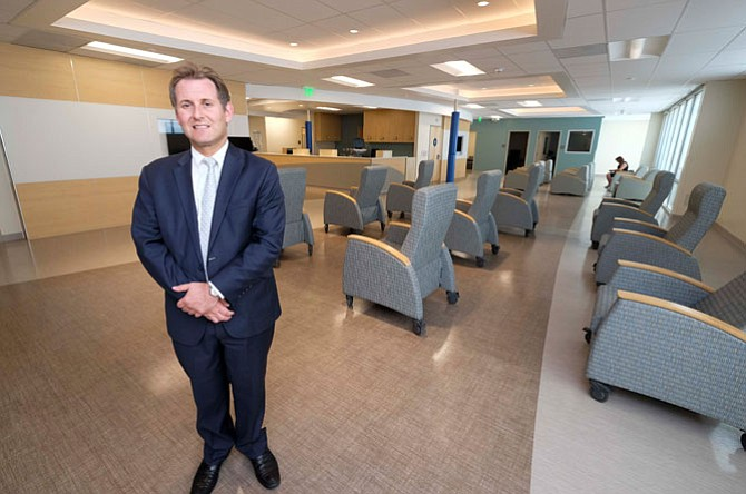 Providing Care: Steven Brass at the outpatient health center.