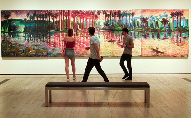 Brushing Up: One of the works in LACMA's 'Playing With Fire:  Paintings by Carlos Almaraz' exhibition, part of the 'Pacific Standard Time: LA/LA' event.