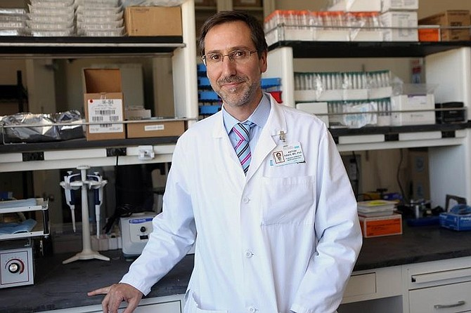Dr. Antoni Ribas in the lab. Photo courtesy of: UCLA Jonsson Comprehensive Cancer Center