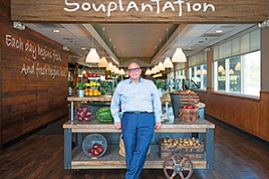 New CEO John H. Haywood is seen here at the company's Souplantation restaurant in Vista. Photo courtesy of Garden Fresh Restaurant Corp.
