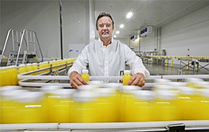 Suja CEO Jeff Church says company annual revenues will grow to $110 million by year's end, an increase of 160 percent since 2014.