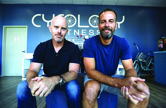 Lymber Co-Founders Doug Hecht, left, and Chuck Phillips transitioned to Mindbody's leadership team in March following the acquisition. Photo by Jamie Scott Lytle.