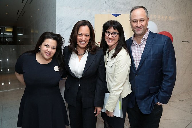 Christy Haubegger, Sen Kamala Harris, Michelle Kydd Lee and Douglas Emhoff.