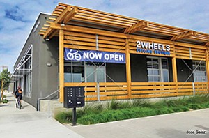 2 Wheels Cycling Boutique recently opened at the mixed-use 