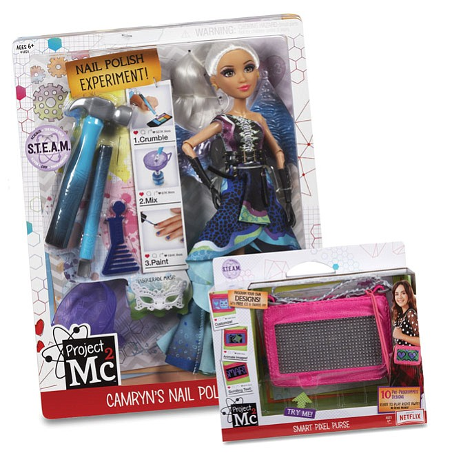 Science Lesson: With 'Project Mc2' toys, girls make nail polish or an electric purse.
