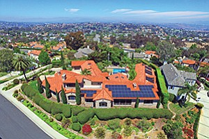 An aerial view of the home at 3664 Maria Lane in Carlsbad that sits on land that belonged to one of Carlsbad's founding families since the mid-1850s. Photo courtesy of Juncal Real Estate