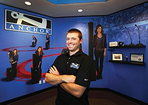 Alex Jacobs is the second generation of family leadership at Anchor Audio in Carlsbad, taking over the role of president from his mother, Janet, who was preceded by her husband, David.