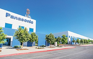 San Diego's Murphy Development acquired much of this Otay Mesa business campus from Panasonic earlier this year, and has since signed the electronics firm and several other tenants to new leases. Photo courtesy of Murphy Development