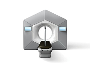 UC San Diego Health is only the second center to use a new radiation therapy machine, called Halcyon, which is manufactured by Palo Alto-based Varian Medical Systems.  Photo courtesy of Varian Medical Systems