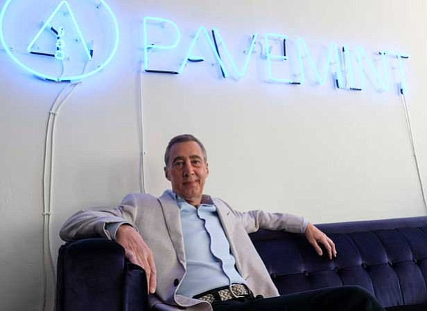 Cool Customer: CEO Randall Jamail at Pavemint's Hollywood office.