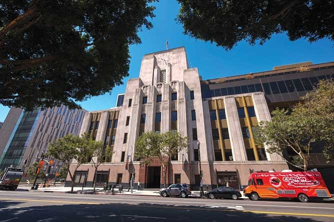 L.A. Times office in downtown Los Angeles.