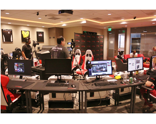 HyperX esports broadcast studio in Fountain Valley