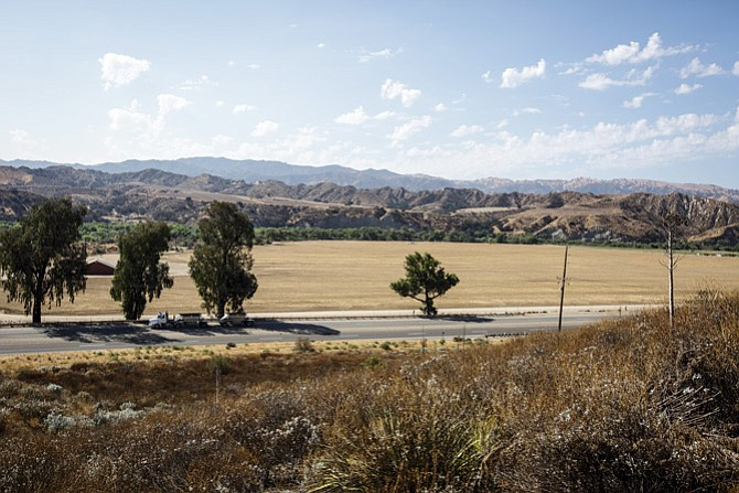 Undeveloped land at Newhall Ranch.