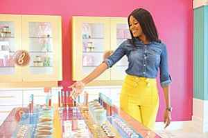 "Beauty Bakerie: Cashmere Nicole, founder and CEO of Beauty Bakerie, created a bakery-themed makeup brand that embraces the ""sweet and friendly"" nature of cosmetics, rejecting the ""rebel""  theme of many industry brands. Photo courtesy of Beauty Bakerie"