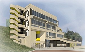 Rendering of the Mesa College Fine Arts building.