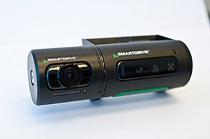 SmartDrive is complementing its in-vehicle video camera, shown, with a new infrared sensor that can tell if a driver is distracted. Photo courtesy of SmartDrive