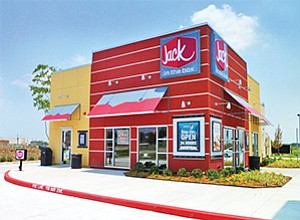 Jack in the Box operates 2,255 quick-service restaurants. The business model differs from its Qdoba unit, whose restaurants offer sit-down dining (and sometimes a bar). Photo courtesy of Jack in the Box Inc.