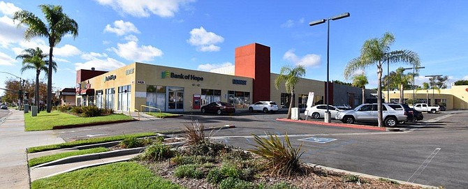 A Kearny Mesa retail center will be remodeled after it was sold. Photo courtesy of CEG Management.