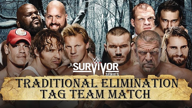 WWE's Survivor Series lineup at Staples Center.