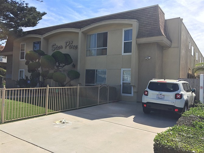 Pacific Beach apartments sold for $4 million. Photo courtesy of 1435 Felspar, LLC.